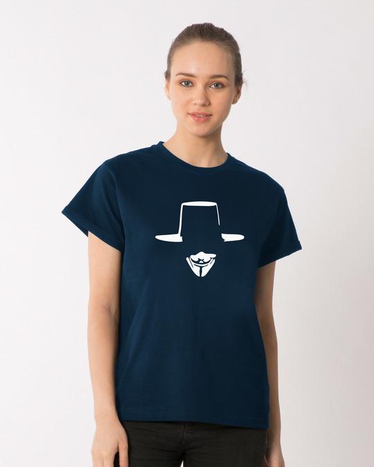 Shop Minimal V Boyfriend T-Shirt-Front