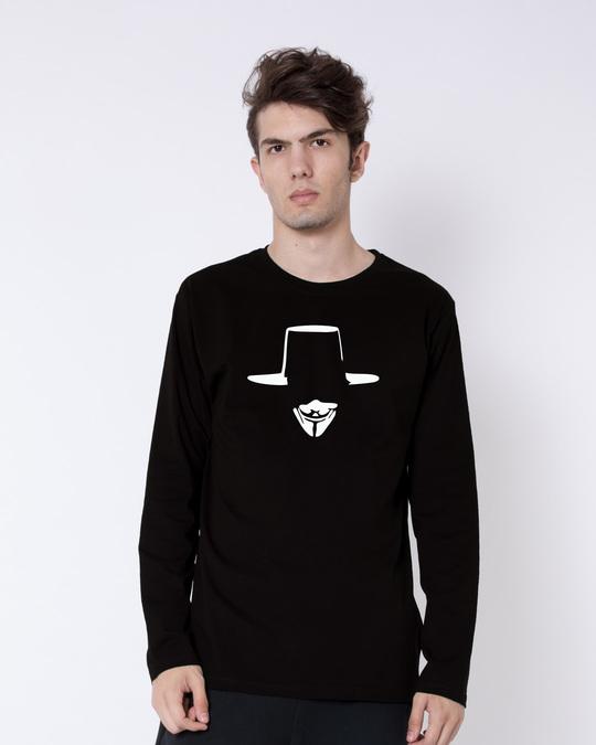 Shop Minimal V Full Sleeve T-Shirt-Front