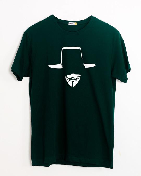Shop Minimal V Half Sleeve T-Shirt-Front