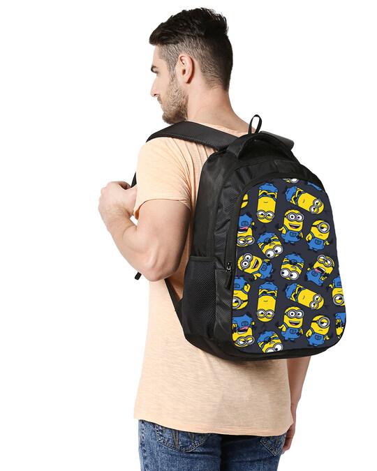 Shop Minion Smirk Printed 23 Litre Backpack