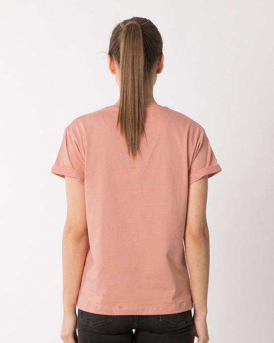 Shop Minnie Be Happy Boyfriend T-Shirt (DL)-Back