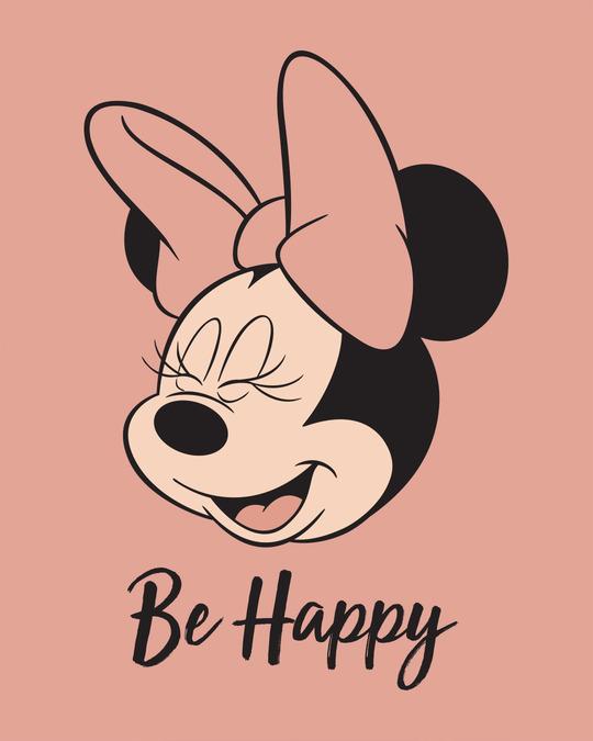 Shop Minnie Be Happy Boyfriend T-Shirt (DL)-Full