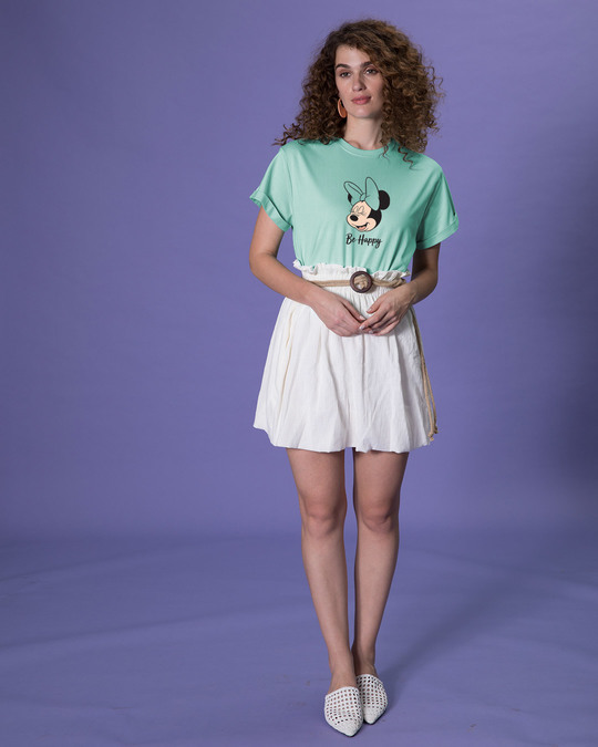 Shop Minnie Be Happy Boyfriend T-Shirt (DL)-Full