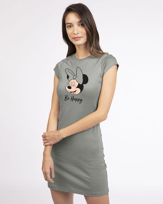 Shop Minnie Be Happy Cap Sleeve T-Shirt Dress (DL)-Front