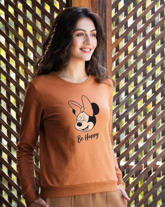Shop Minnie Be Happy (DL) Fleece Sweater-Back