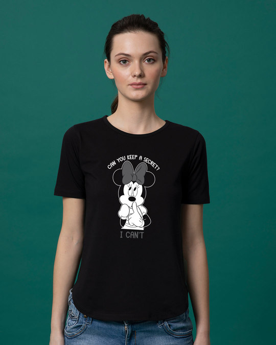 Shop Minnie Can't Basic Round Hem T-Shirt (DL)-Front