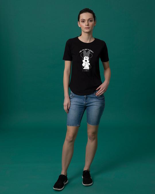 Shop Minnie Can't Basic Round Hem T-Shirt (DL)