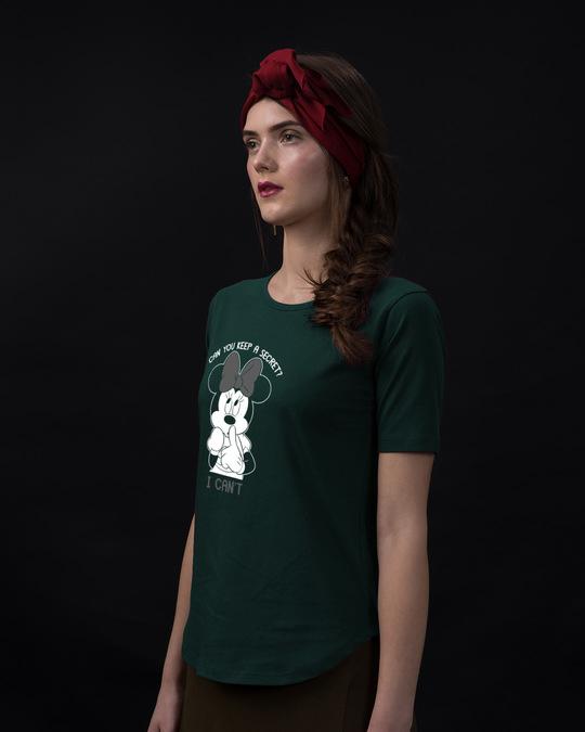 Shop Minnie Can't Basic Round Hem T-Shirt (DL)-Back