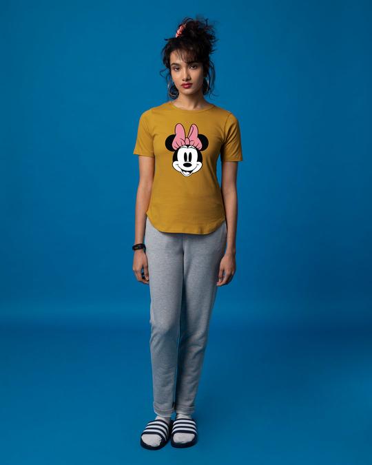 Shop Minnie Face Basic Round Hem T-Shirt (DL)-Full