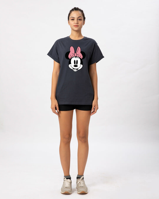 Shop Minnie Face Boyfriend T-Shirt (DL)