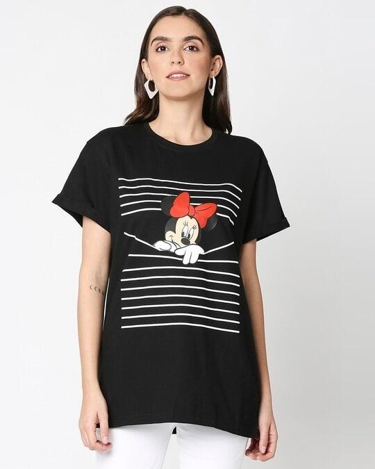 Shop Minnie Boyfriend T-shirt (DL) -Back