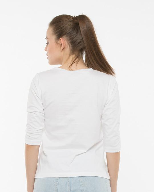 Shop Minnie Round Neck 3/4th Sleeve T-Shirt (DL)-Back