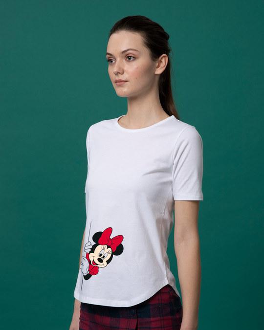 Shop Minnie Says Hi Basic Round Hem T-Shirt (DL)-Back