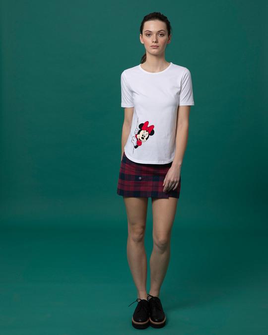 Shop Minnie Says Hi Basic Round Hem T-Shirt (DL)