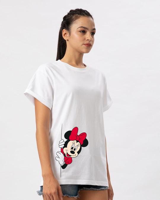 Shop Minnie Says Hi Boyfriend T-Shirt (DL)-Back