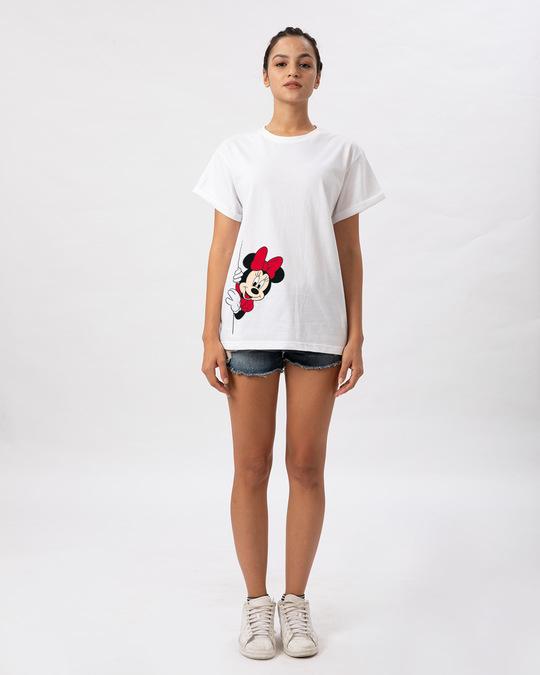 Shop Minnie Says Hi Boyfriend T-Shirt (DL)