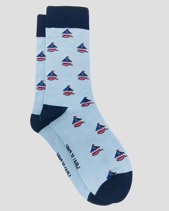 Shop Mint & Oak Gift box of 3 Socks - AHOY MATE-Design