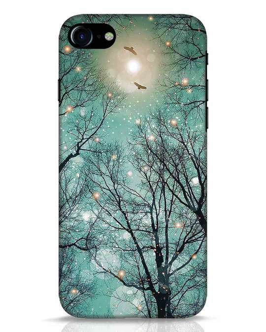 Shop Mint Embers iPhone 8 Mobile Cover-Front