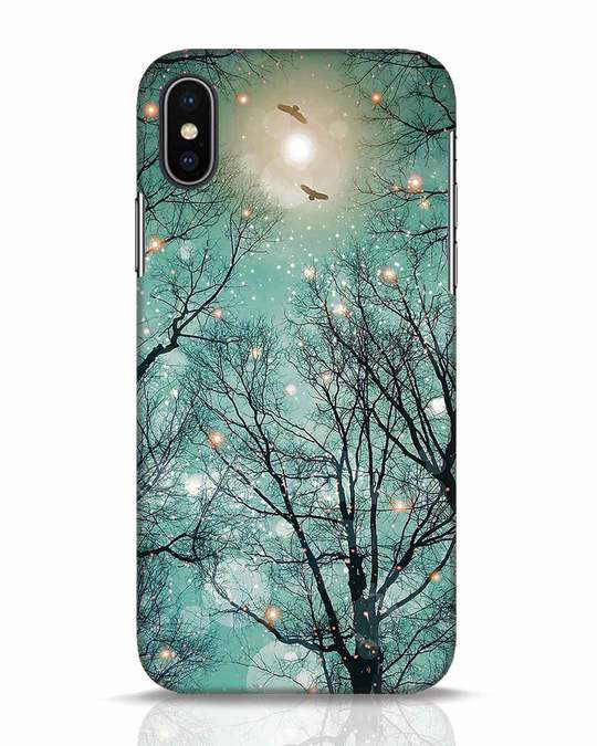 Shop Mint Embers iPhone X Mobile Cover-Front