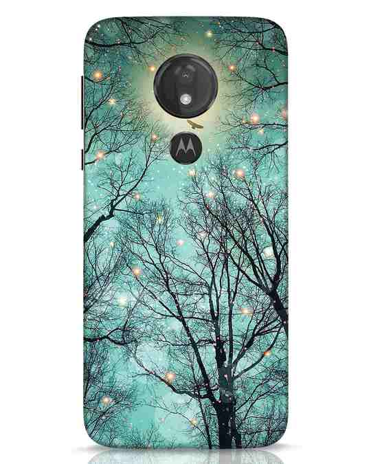 Shop Mint Embers Moto G7 Power Mobile Cover-Front