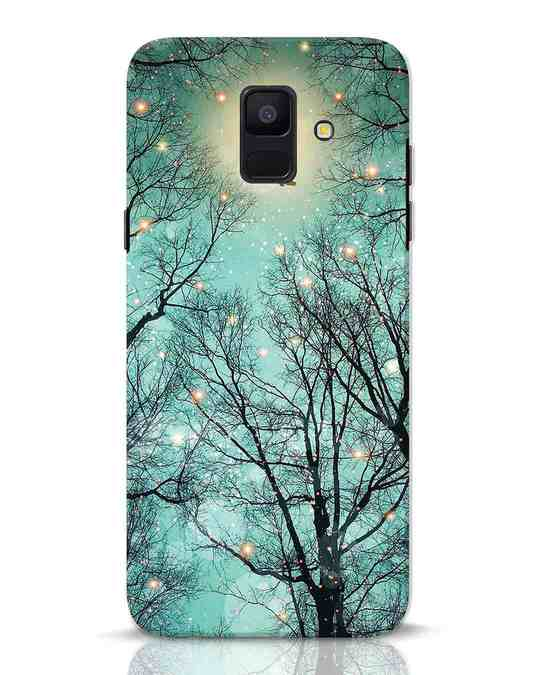 Shop Mint Embers Samsung Galaxy A6 2018 Mobile Cover-Front
