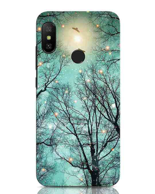 Shop Mint Embers Xiaomi Redmi Note 6 Pro Mobile Cover-Front