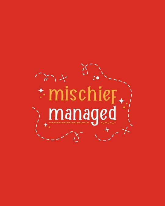 Shop Mischief Managed Crewneck Varsity Rib T-Shirt - Multicolor-Full