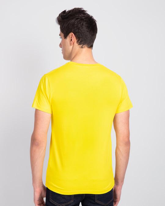 Shop Mischief On My Mind Half Sleeve T-Shirt (LTL) Pineapple Yellow-Back