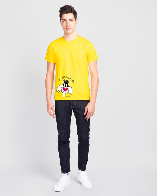 Shop Mischief On My Mind Half Sleeve T-Shirt (LTL) Pineapple Yellow-Design