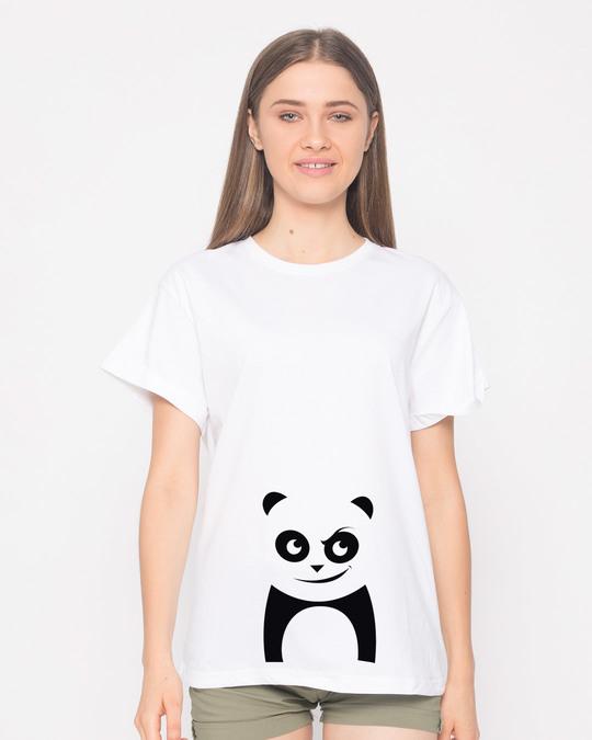 Shop Mischief Panda Boyfriend T-Shirt-Front