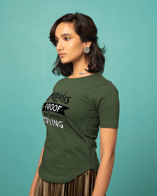 Shop Mistakes Are Proof Basic Round Hem T-Shirt-Back