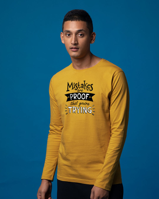Shop Mistakes Are Proof Full Sleeve T-Shirt-Back
