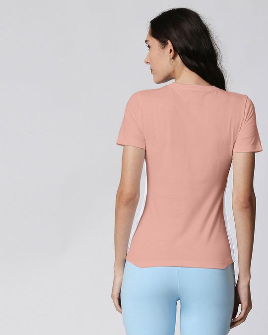 Shop Misty Pink - White Contrast Side Seam T-Shirt-Design