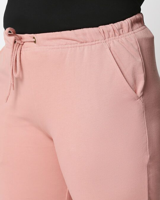 Shop Misty Pink Plus Size Casual Jogger Pants