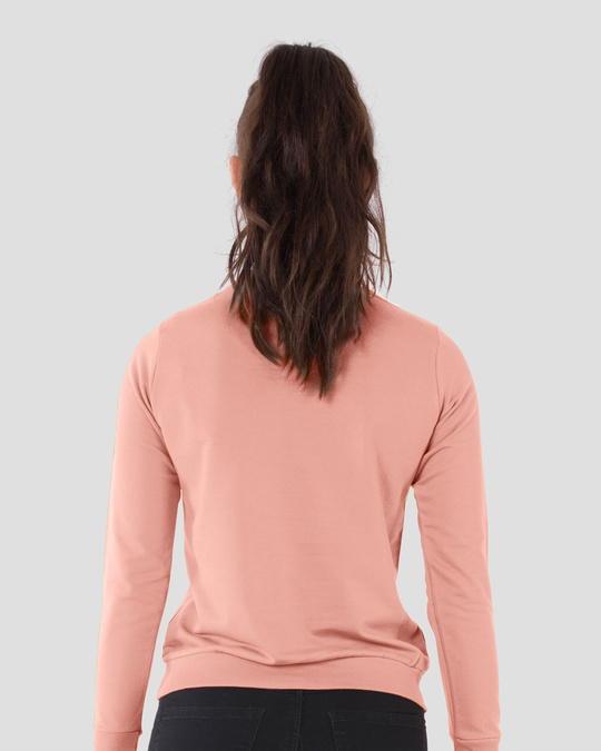Shop Misty Pink Fleece Light Sweatshirt-Design