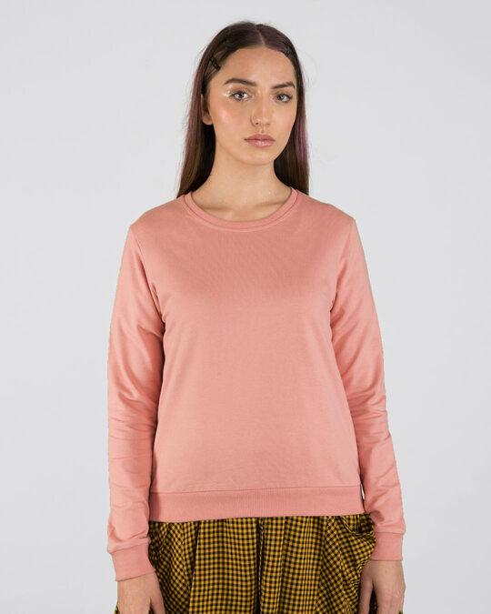 Shop Misty Pink Fleece Light Sweatshirt-Front