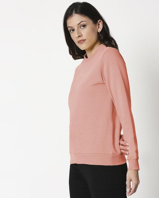 Shop Misty Pink Fleece Sweater-Back