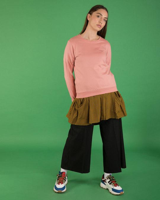 Shop Misty Pink Fleece Sweater-Full