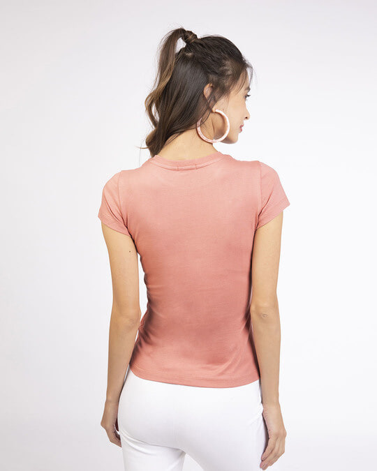 Shop Misty Pink Half Sleeve T-shirt-Design