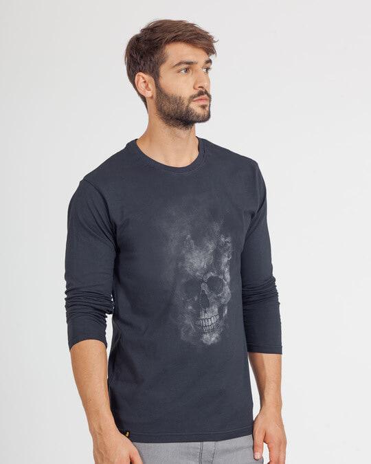 Shop Misty Skull Full Sleeve T-Shirt-Back