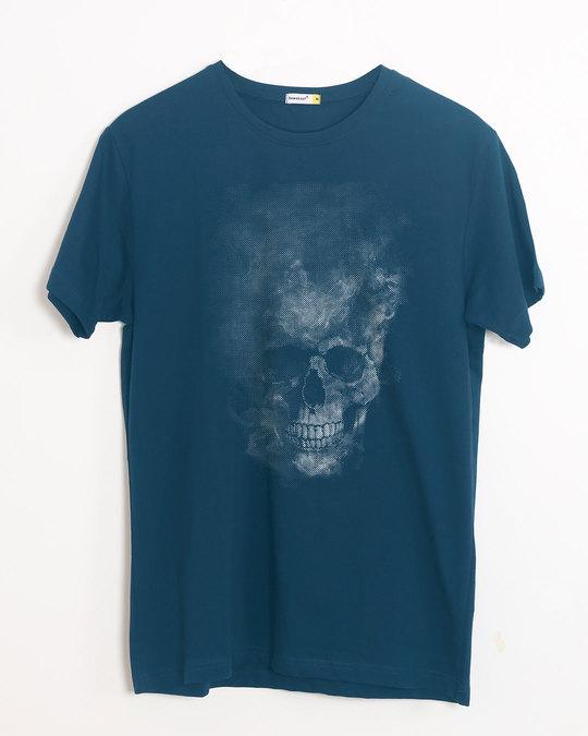 Shop Misty Skull Half Sleeve T-Shirt-Front