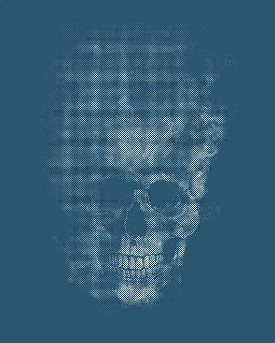 Shop Misty Skull Half Sleeve T-Shirt