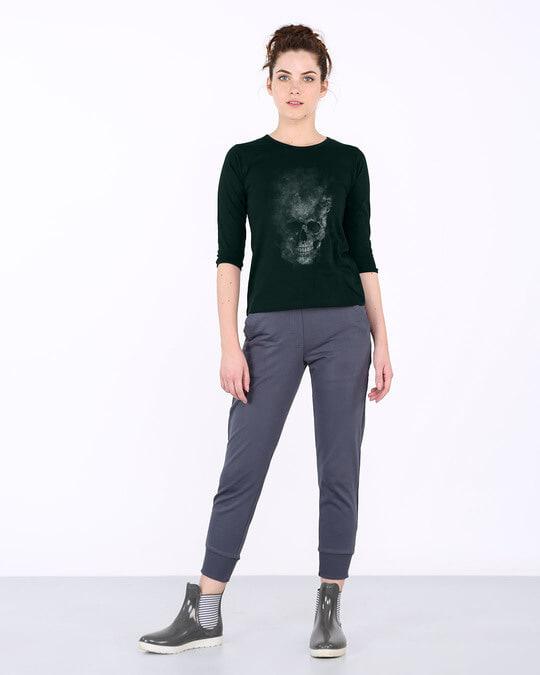 Shop Misty Skull Round Neck 3/4th Sleeve T-Shirt-Full