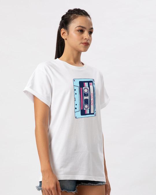 Shop Mix Tape Mtv Boyfriend T-Shirt (MTL)-Back