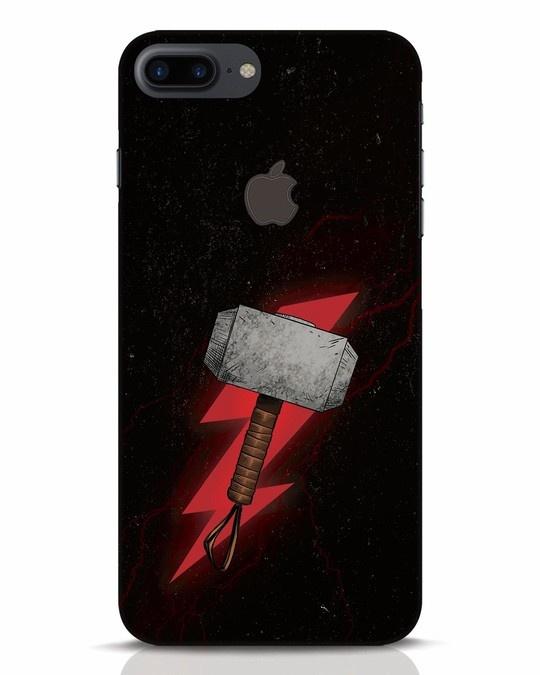 Shop Mjolnir iPhone 7 Plus Logo Cut Mobile Cover-Front