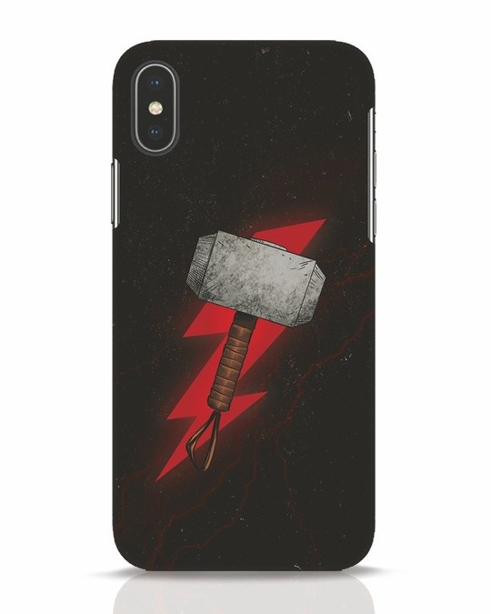 Shop Mjolnir iPhone X Mobile Cover-Front