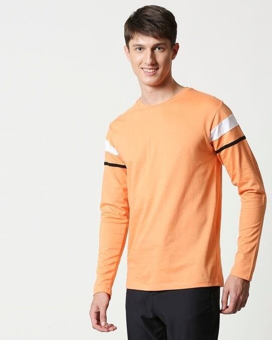 Shop Orange Rush Sports Trim Full Sleeves-Full