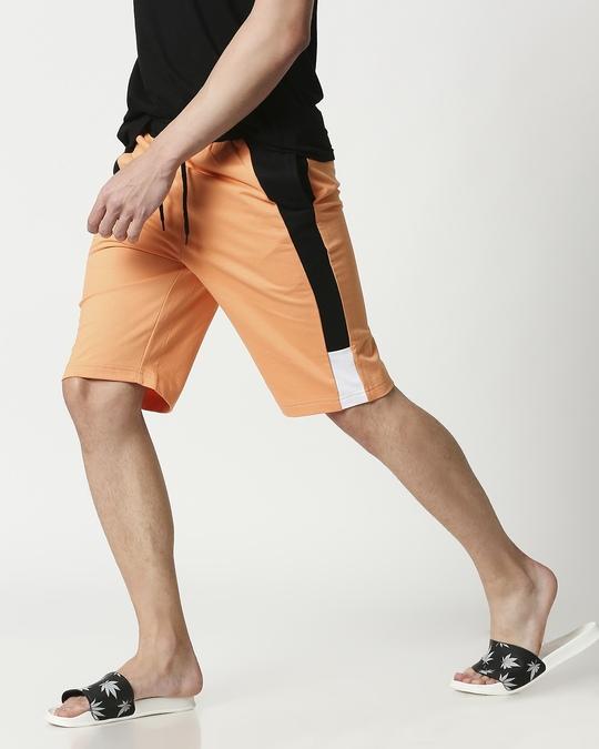 Shop Orange Rush Side Panel Shorts-Front