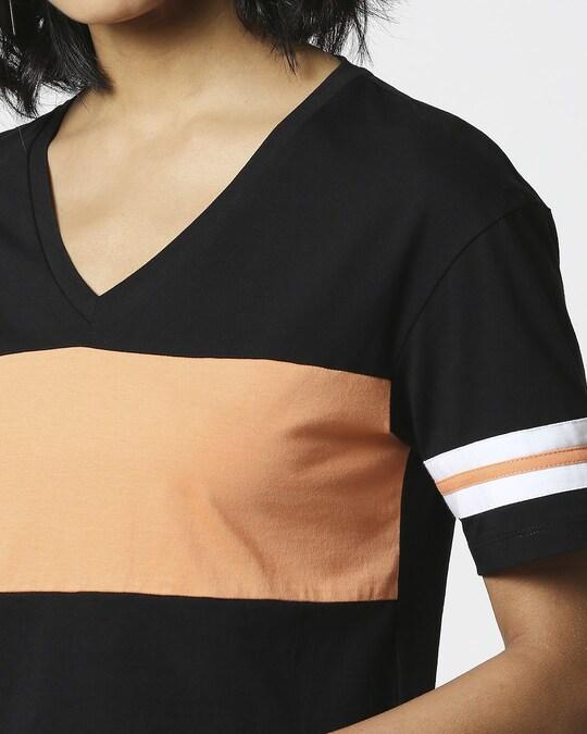 Shop Orange Rush V-Neck Short Top