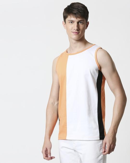 Shop Orange Rush Colorblock Vest-Full